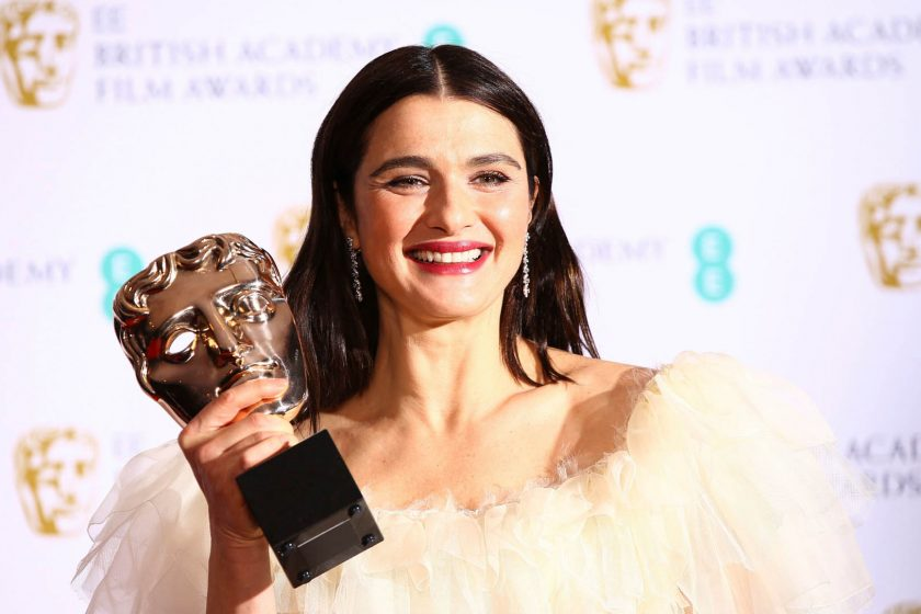 Rachel Weisz wins BAFTA for Best Supporting Actress in The Favourite.